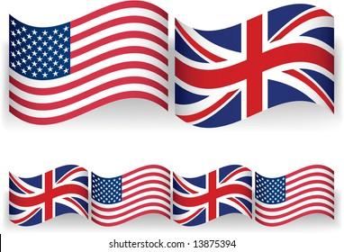 American British Flags