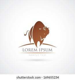 American buffalo symbol - vector illustration