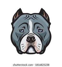 American Bully dog isolated vector illustration