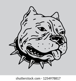 american bully dog vector art