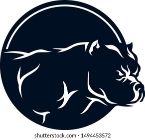American Bully Simple Logotype Design