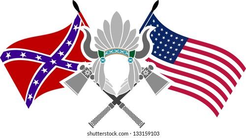 Symbol American Civil War Stencil Vector Stock Vector Royalty Free
