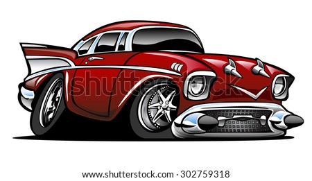 American Classic Muscle Car Hot Rod Stock Vector Royalty Free