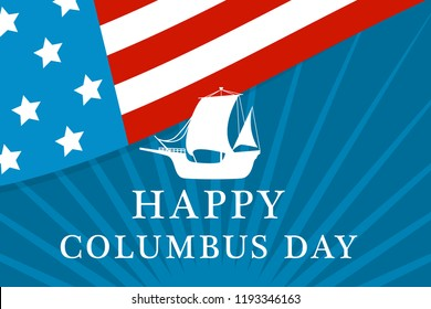 American columbus day concept background. Flat illustration of american columbus day vector concept background for web design