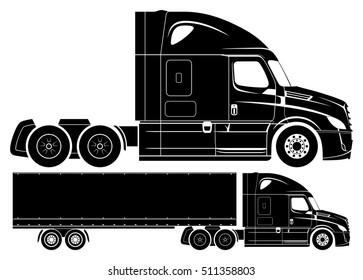 American concept semi-truck vector