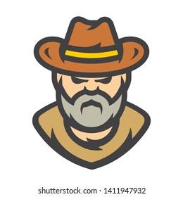 American cowboy Vector Cartoon illustration
