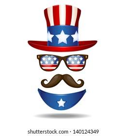 American cowboy. Vector illustration