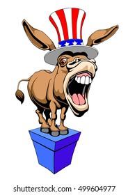 American Donkey Democrat symbol