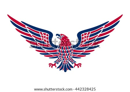 american eagle background vector art easy のベクター画像素材