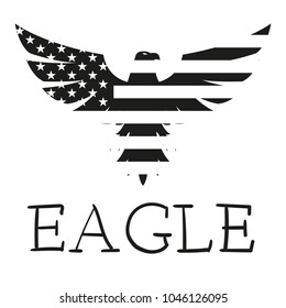 American Eagle. the eagle's logo. emblem on the shirt
