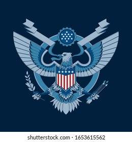 American Eagle Emblem Vector Illustration