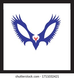 American eagle isolated vector illustration
