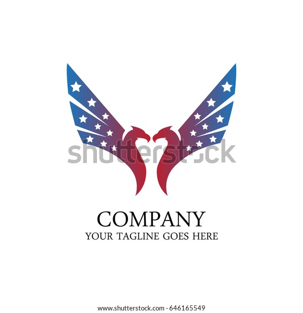 American Eagle Logo Vector Design Stock Vector Royalty Free 646165549