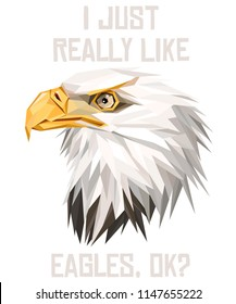 American Eagle low poly design. Triangle vector illustration.