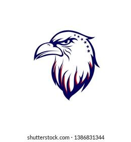 American eagle patriotic head template. American eagle logo design