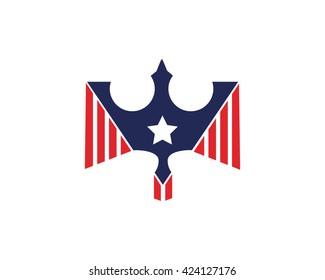 American Eagle Patriotic Logo - Proud Soldier Award