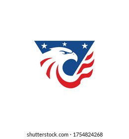 American Eagle Patriotic Logo Template
