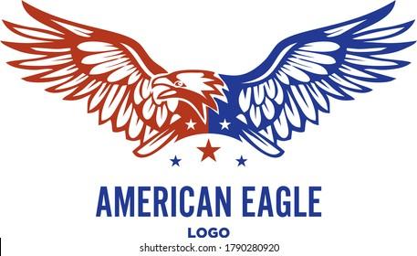 AMERICAN EAGLE PATRIOTIC LOGO VECTOR