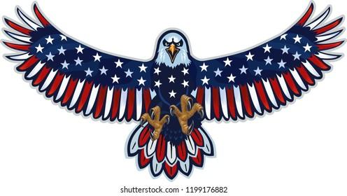 american eagle usa flags のベクター画像素材 ロイヤリティフリー
