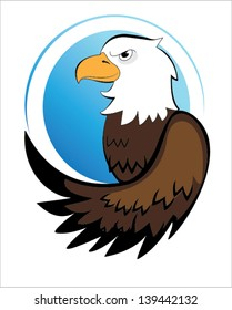 American Eagle. Vector image of american eagle on a white background.