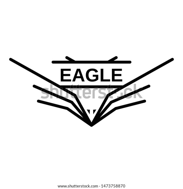 american eagle wings logo outline american stock vector royalty free 1473758870 shutterstock