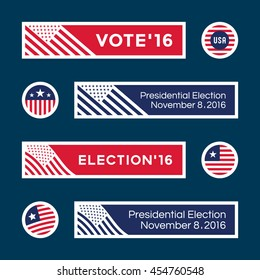American election badges and vote logo graphics. Presidential Election (1)