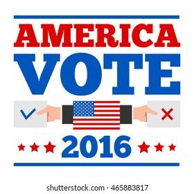 american election vote background banner poster design