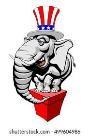 American elephant symbol of the Republicans