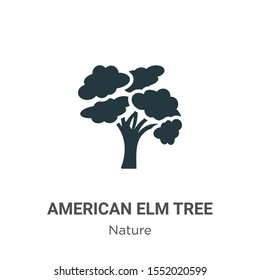 American elm tree vector icon on white background. Flat vector american elm tree icon symbol sign from modern nature collection for mobile concept and web apps design.