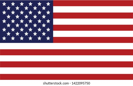 American Flag 4th july illustration