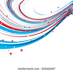 American Flag 4th of july american independence day background wire wave vector