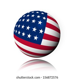 American flag, Abstract, Sphere