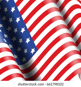 American flag background - ideal for 4th July celebrations