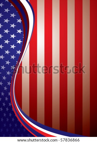american flag background template concept stars stock vector
