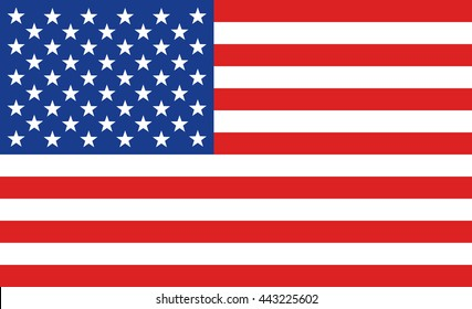 American flag or banner of the United States of America flat vector image for print
