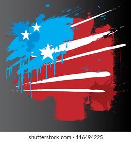 American Flag Blast