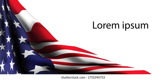american flag decor 4th of July celebration Independence day sale promotion banner vector shopping online