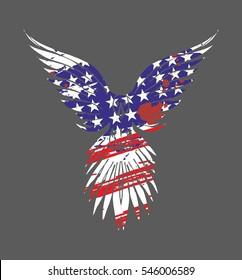 American Flag Eagle graphic design vector art
