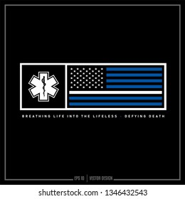 American Flag, EMS. EMT, USA, USA Flag, First Respond, Thin white Line, Emergency Medical Services, Emergency Medical Technician,  Americana