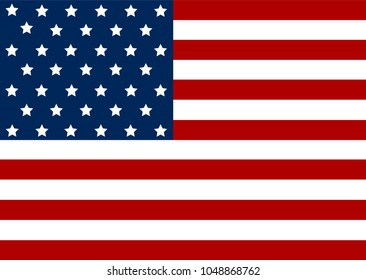 American flag. Eps10 vector file