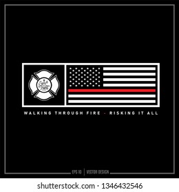 American Flag, Firefighter, USA, USA Flag, Fire Department, Thin Red Line, Americana