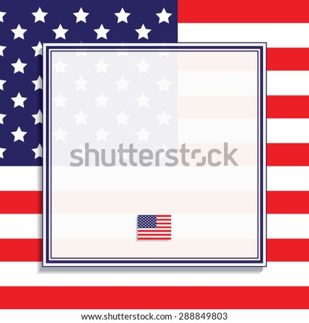 American Flag Frame Vector Illustration Stock Vector (Royalty Free ...