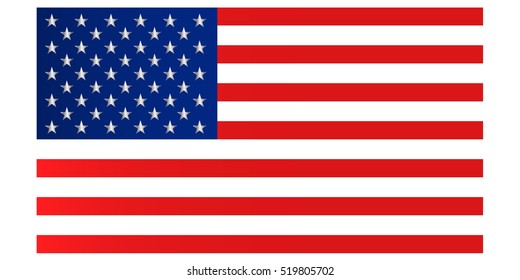American flag with good colors on light lime color background. USA Flag vector eps10. USA flag. American flag. United States.  American symbol.United states . Independence day.