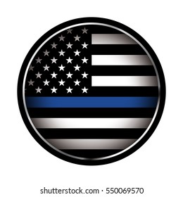 An American flag icon law enforcement support flag. Vector EPS 10 available.