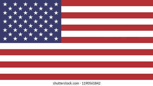 American Flag for Independence Day. United States of America national symbol.