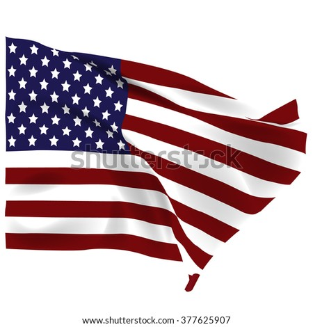 american flag isolated on white background stock vector royalty