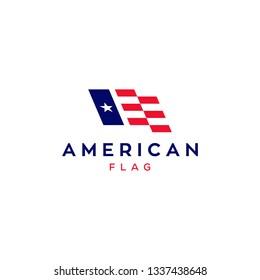 american flag logo design