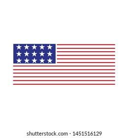 American flag logo design with several variants