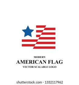 American Flag Logo Icon