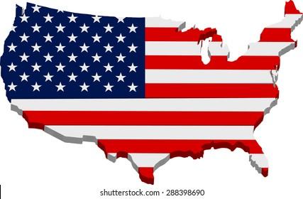 Map Of America 3d Vector.Vector American Map 3d Images Stock Photos Vectors Shutterstock